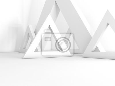 Fototapeta interiér prázdný 3D vykreslování