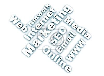 Internet marketing slova související - bílá