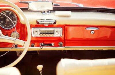 Fototapeta interno auto vintage