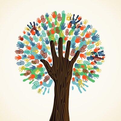 Fototapeta Izolované rozmanitost strom ruce