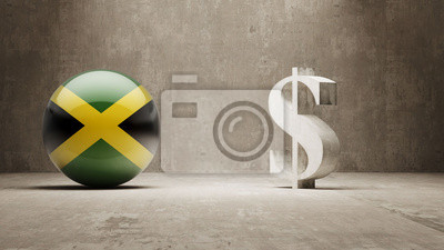 Jamaica. Peníze Sign koncept.