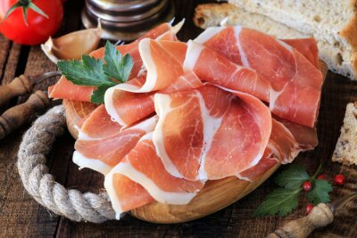 Fototapeta Jamón serrano - Španělský šunky prosciutto nebo italský