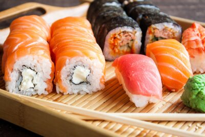 Fototapeta Japonské sushi set