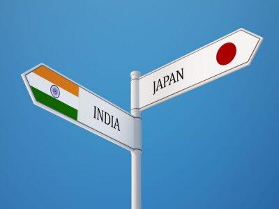 Japonsko Indie Sign Vlajky Concept