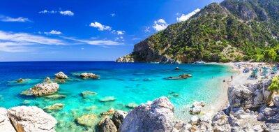 Fototapeta jeden z nejkrásnějších pláží Řecka - apella, Karpathos
