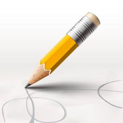 Fototapeta Jednoduché tužka na bílém pozadí, vektorové ilustrace eps10.