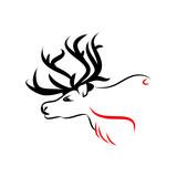 Zelený jelen ochrana zvířat logo fototapeta • fototapety krásná 9914e4e7f2
