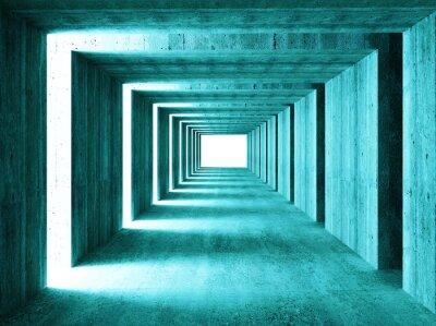 Fototapeta jemný obraz 3d concretet tunelu abstraktní pozadí