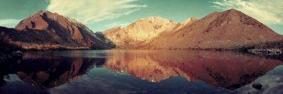 Fototapeta jezero sníh hora