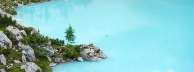 Fototapeta jezero Sorapis, hora Dolomity