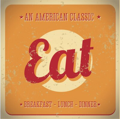 Fototapeta Jezte Vintage znak. All American classic