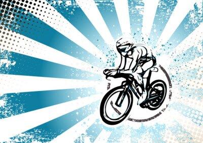 Fototapeta jízda na kole retro plakát pozadí