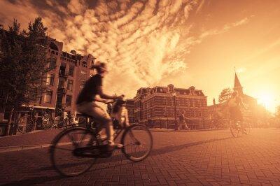 Fototapeta jízda na kole ve městě