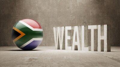 Jižní Afrika. Bohatství Concept.