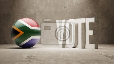 Jižní Afrika. Hlasovat koncept.