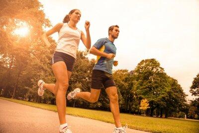 Fototapeta Jogging dohromady - sportovní mladý pár
