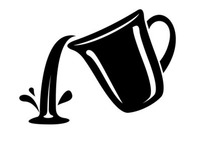 Fototapeta Jug pour out milk or water canister. Simple logo.