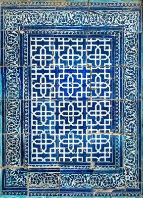 Fototapeta Kachlová pozadí s orientální ornamenty