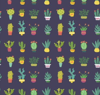 Fototapeta kaktus bezešvé vzor