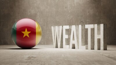 Kamerun. Bohatství Concept.