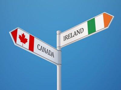 Kanada Irsko Znamení Vlajky Concept