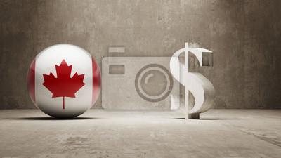 Kanada. Peníze Sign koncept.