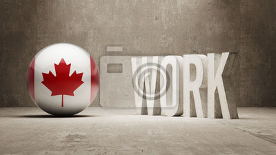 Kanada. Práce koncept.