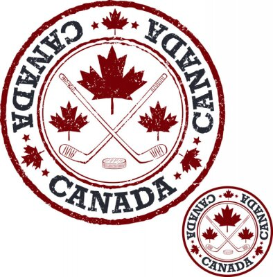 Fototapeta Kanadský hokejový razítko.
