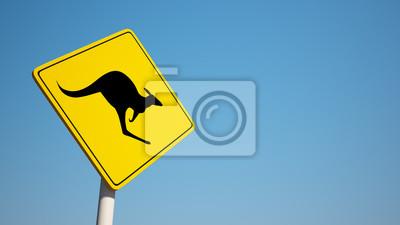 Kangaroo Sign s ořezovou cestou