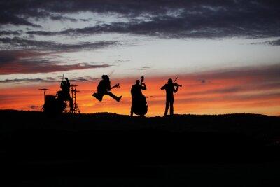 Fototapeta Kapela účinkovat živě v průběhu venkovního koncertu