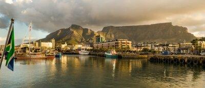 Fototapeta Kapské Město, Sudafrica, Waterfront, tramonto, Table Mountain