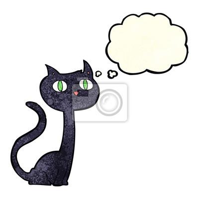 černá kočička karikatury