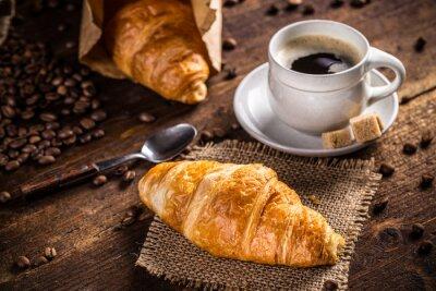 Fototapeta Káva a croissant