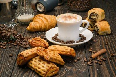 Fototapeta Káva a pečivo