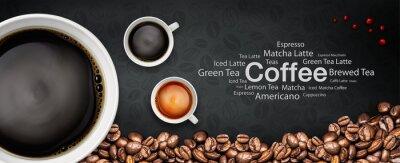 Fototapeta káva backgrond