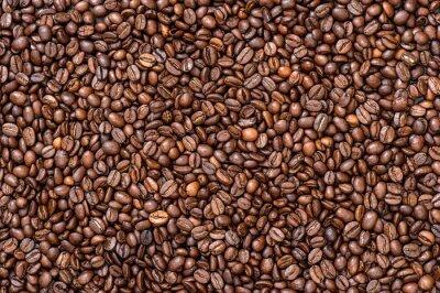 Fototapeta Káva na pozadí textury. hnědé boby