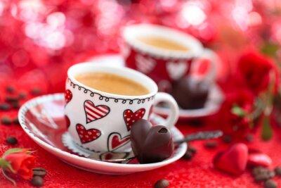 Fototapeta Káva na Valentýna.