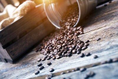 Fototapeta Kávová zrna v Bucket