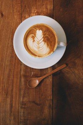 Fototapeta kávu latte v kavárně vintage barvy