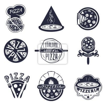 caad81d3067 Fototapeta Klasické pizzeria štítky