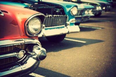 Fototapeta Klasické vozy v řadě