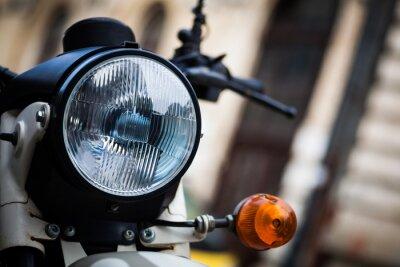 Fototapeta Klasický motocykl světlomet