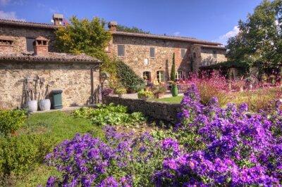 Fototapeta Klasický toskánský venkovský dům