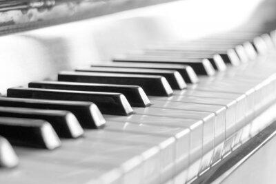 Fototapeta Klávesnice klavíru. Černý a bílý obraz s selektivní zaměření