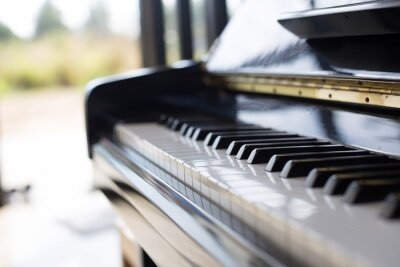 Fototapeta klavír je hudební nástroj má klávesnice a populární v několika dětmi.