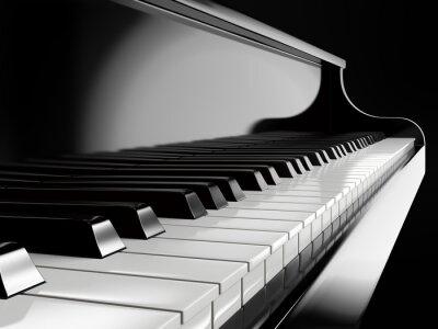 Fototapeta klavír klávesy na černém piano