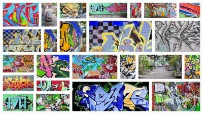 Fototapeta koláž ... graffiti