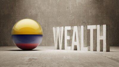 Kolumbie. Bohatství Concept.