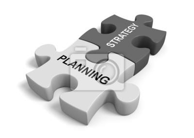 Fototapeta Kombinace plánování se strategií pro úspěšné obchodní cíl