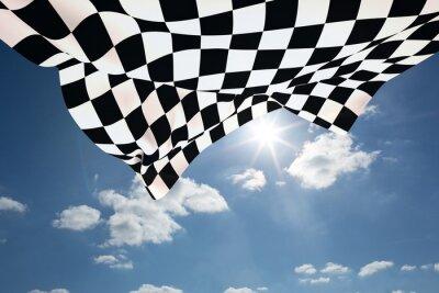 Fototapeta Kompozitní obraz šachovnicovou vlajkou